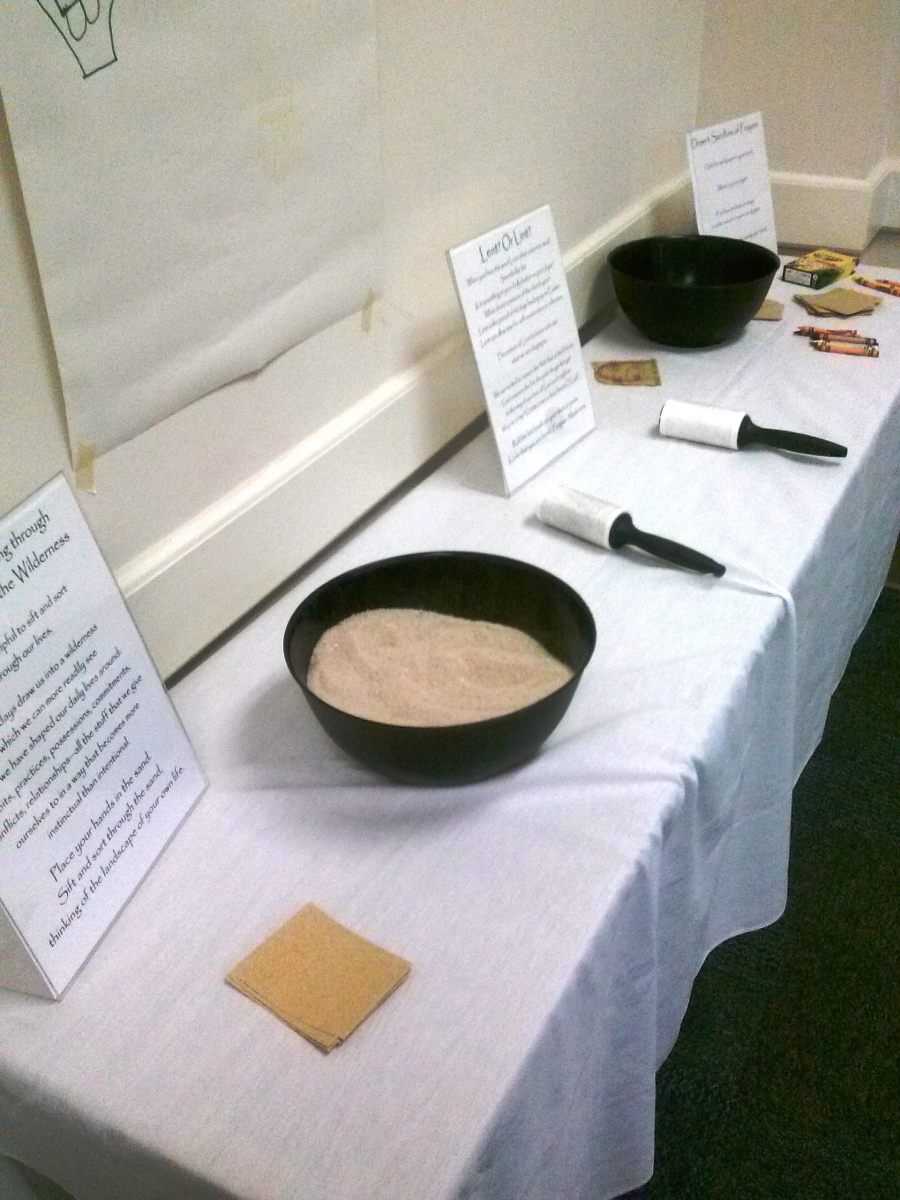 Examples of sensory prayer stations